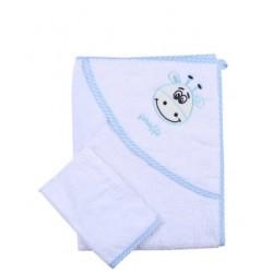 Keseli Bebek Banyo Havlu Set Mavi