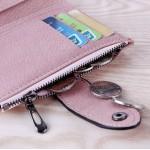 Çok bölmeli deri cüzdan gri