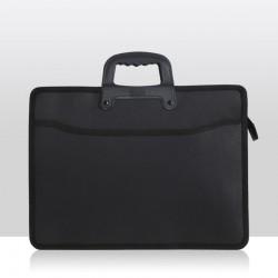 Kumaş evrak, dosya çantası siyah