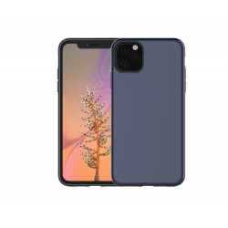 Iphone 11 Magnetic Mat Silicone arka kapak renk blue