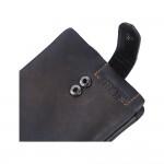 Premium seri üst kalite deri cüzdan, tek renk