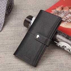 Bison Denim Premium kalite business style cüzdan siyah