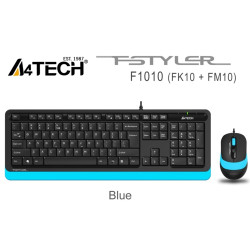 A4 Tech F1010 MM Klavye Mouse Set Mavi USB