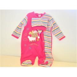 Uzun Kollu Renkli Uyku Tulum Body Zıbın 6 Aylık Bebek