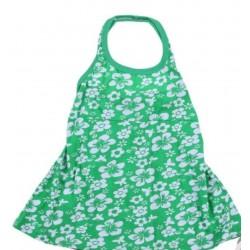 Bebek Çiçek Elbise Yeşil 6 Aylık