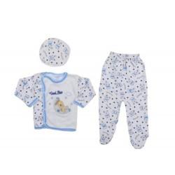 Bebek Hastane Çıkışı Mavi 0-3 Aylık Bebek