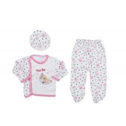 Bebek Hastane Çıkışı Pembe  0-3 Aylık Bebek