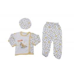 Bebek Hastane Çıkışı Sarı  0-3 Aylık Bebek