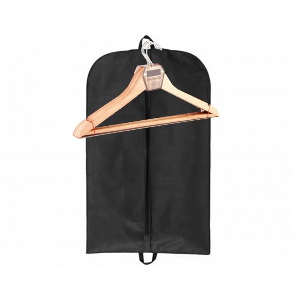 Ahşap askı ve takım elbise kılıfı ekonomik bundle paket