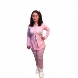 Hamile lohusa pijama takımı, model 1116, Pembe renk, 2XL beden