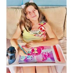 Çok amaçlı çocuk aktivite masası, kedicik desenli