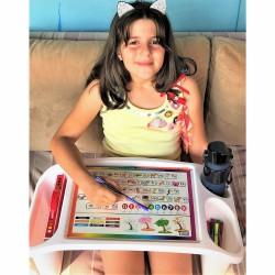 Çok amaçlı çocuk aktivite masası, alfabe desenli
