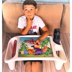 Çok amaçlı çocuk aktivite masası, dinazor desenli
