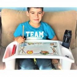 Çok amaçlı çocuk aktivite masası, bilim desenli