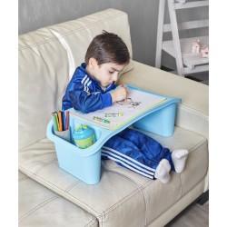 Çok amaçlı çocuk aktivite masası açık mavi