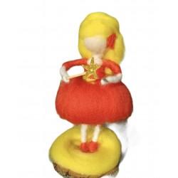 Şans perisi, sarı kırmızı